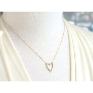 Love Heart Dainty Pendant Necklace